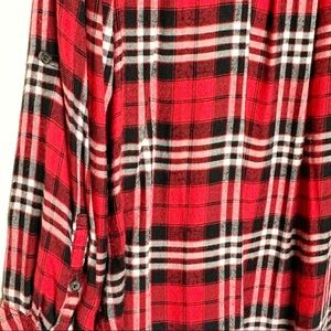 Lane Bryant Tops - Lane Bryant Red Plaid Flannel Soft Long Sleeve Top